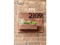 Address Number Wall Planter