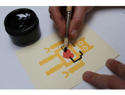 Conductive Paint Greeting Cards
