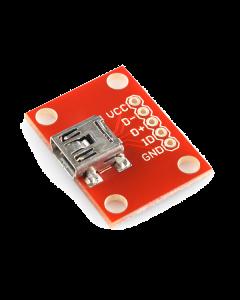 Breakout Board for USB Mini-B