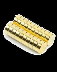 Disc magnet Gold Ø 6 mm, H 2 mm