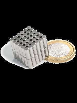Rod magnet Ø 3 mm, H 8 mm